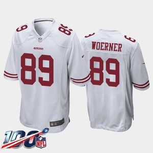 49ers Charlie Woerner White Jersey